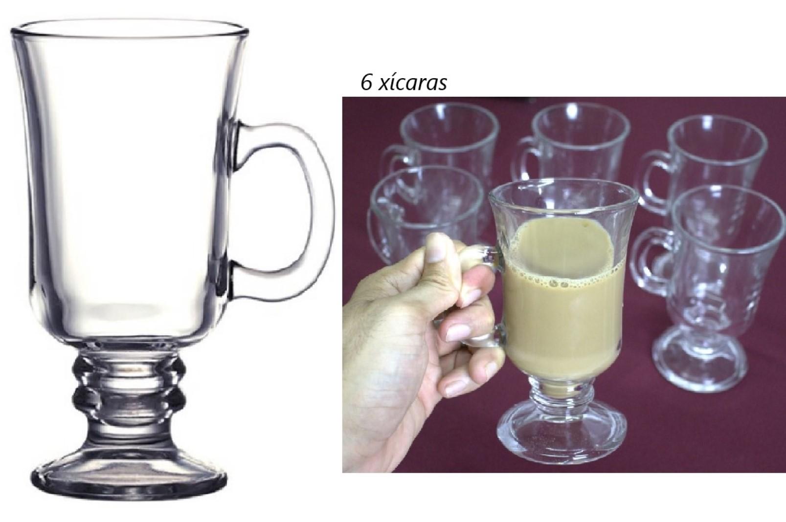 xícara de vidro café 6 unidades 250mL caneca de cafe nespesso dolcegusto