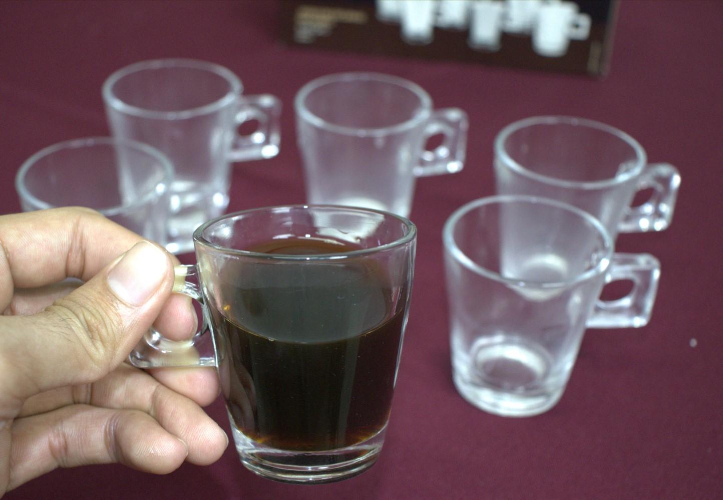 xícara de vidro café 6 unidades 80mL caneca de cafe nespesso dolcegusto