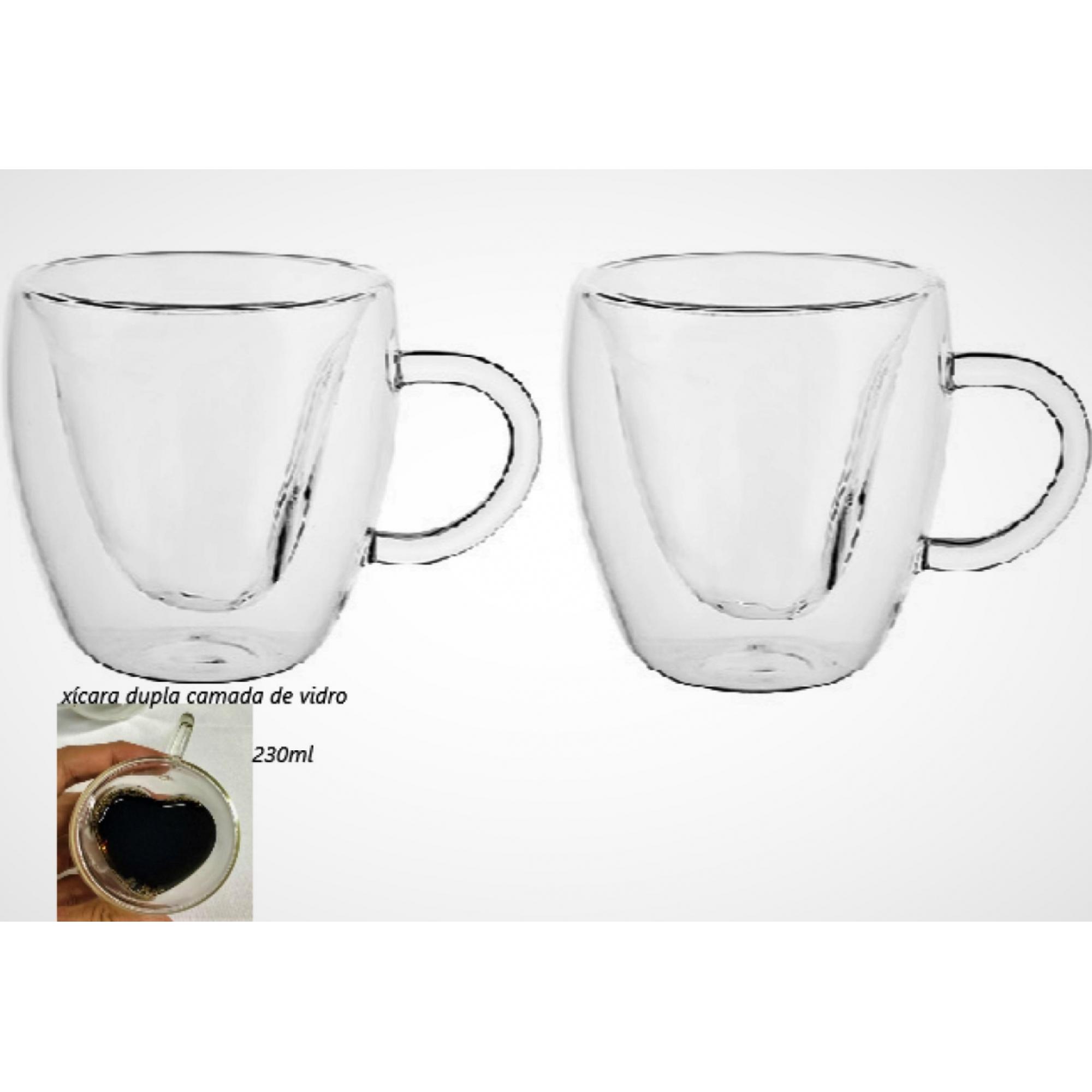 xícara de vidro café parede dupla 2 unidades 230mL caneca de cafe nespesso dolcegusto