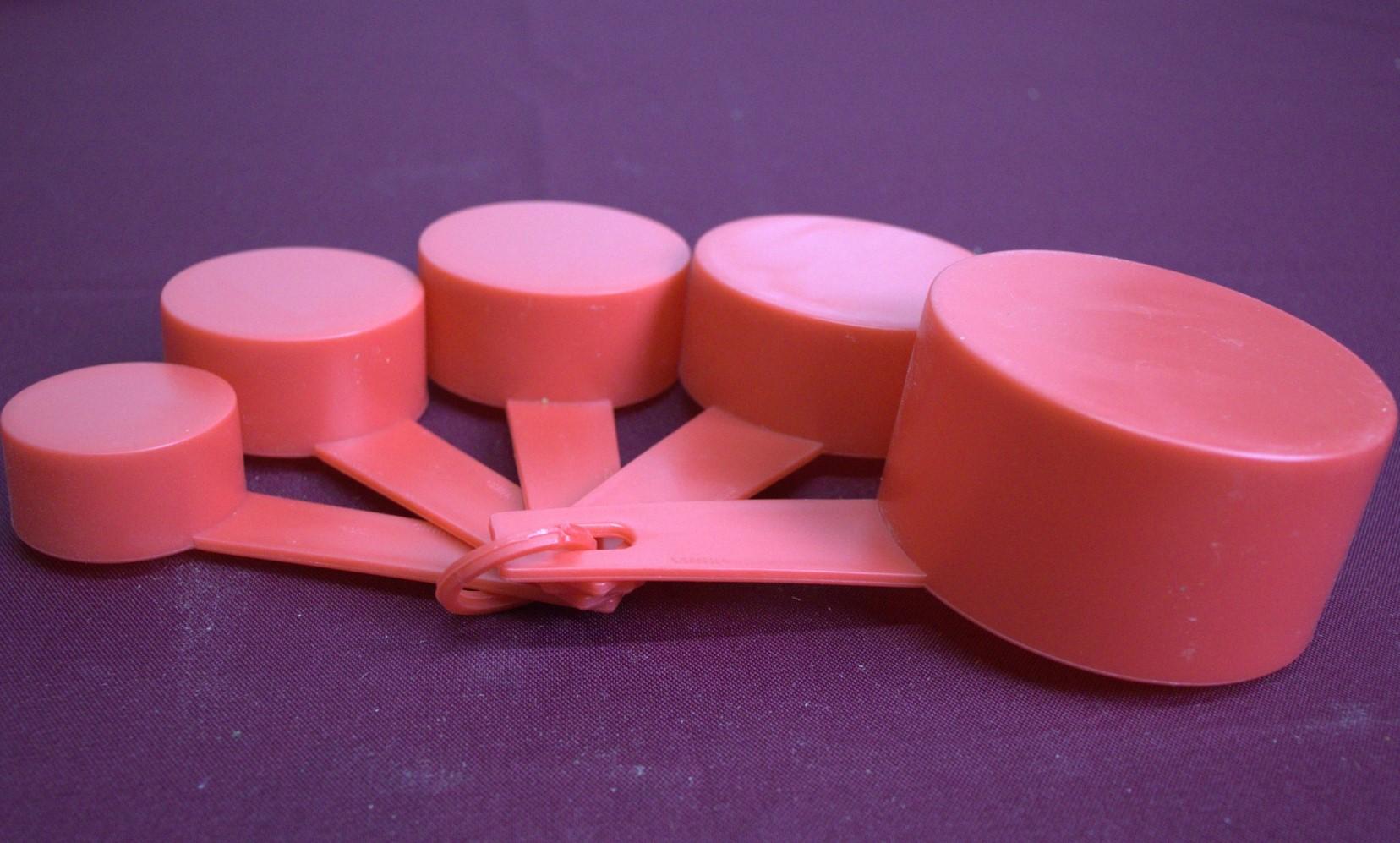 xicaras colheres medidoras de cozinha kit5 colher medidas culinarias vermelho