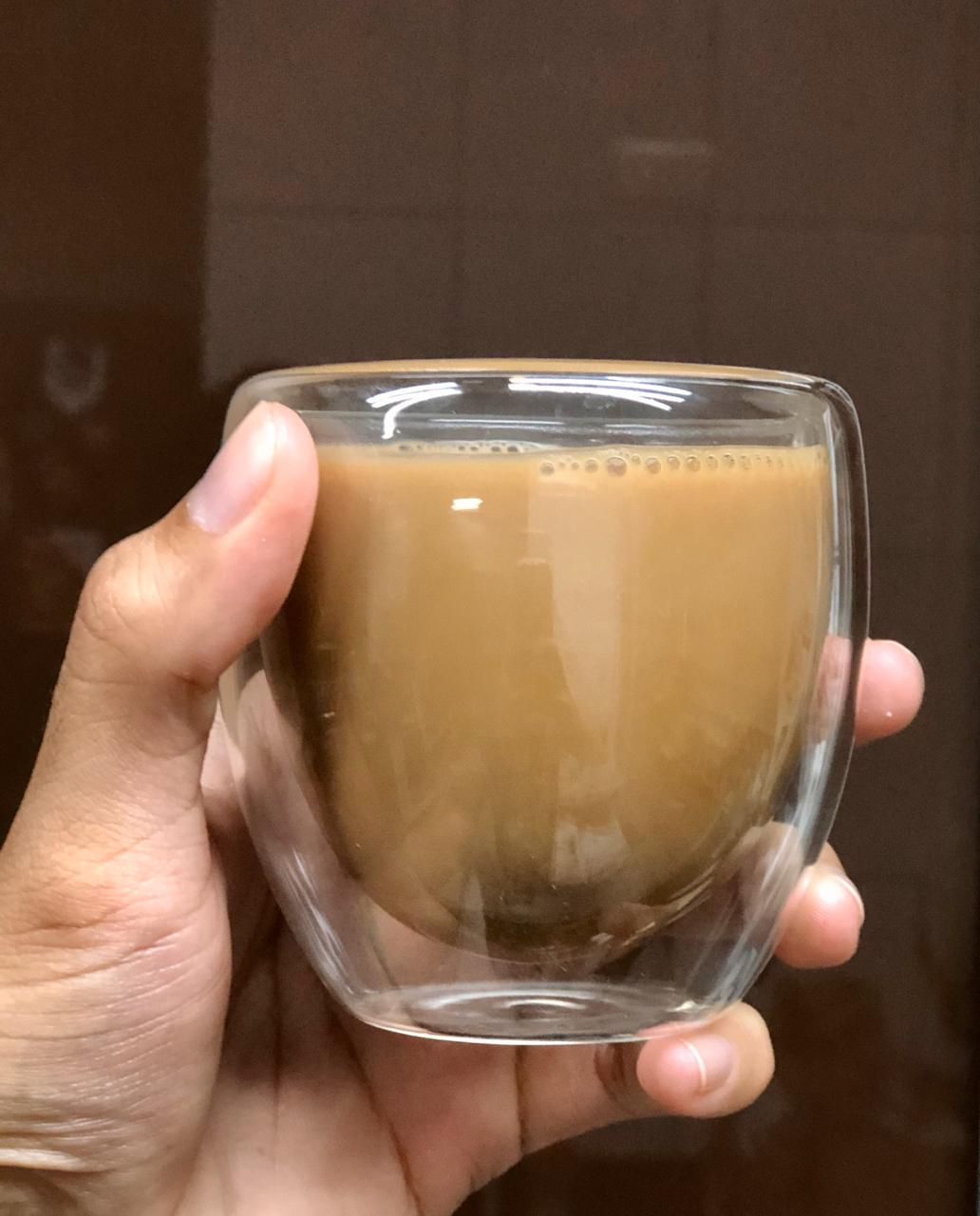 Xícaras de café 2 unidades parede dupla camada de vidro 240mL