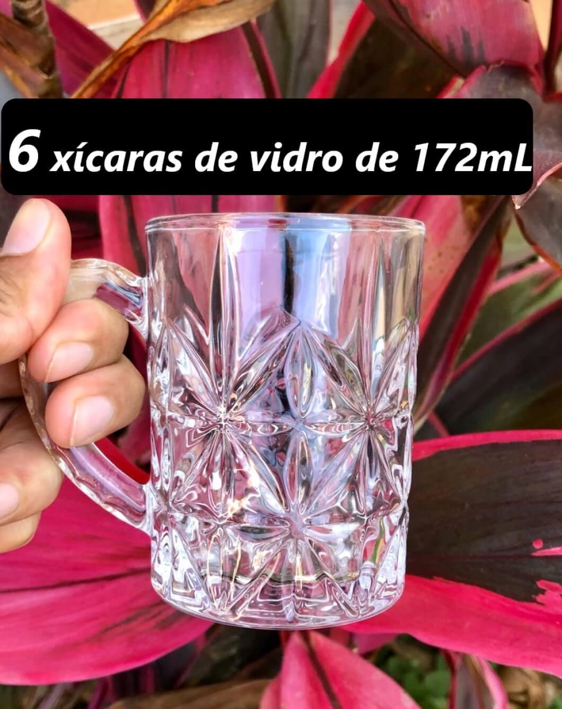 xícaras de café de vidro 6 unidades 172mL Dublin Caneca de vidro nespresso dolcegusto