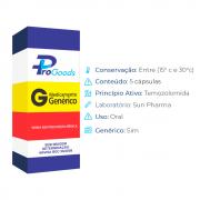 TEMOZOLOMIDA 100 MG CX C/05 CAPS (G) (SUN PHARMA)