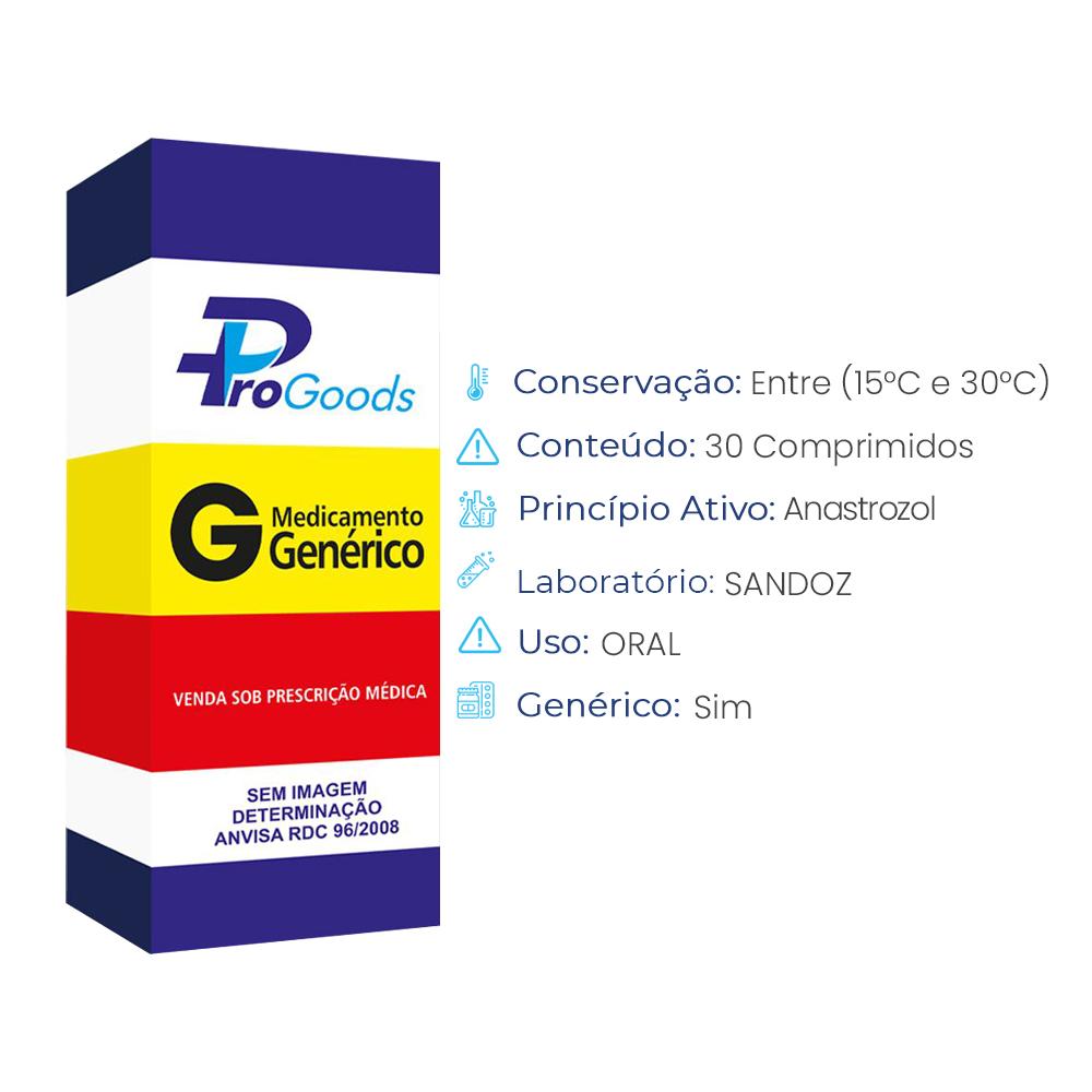 ANASTROZOL 1 MG CX C/30 COMPR (G) (SANDOZ)  - ProGoods