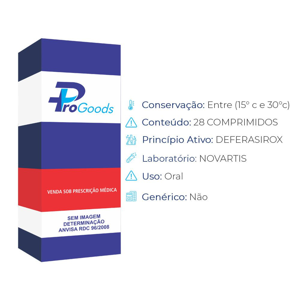EXJADE 500MG CX C/ 28 CP DISP (R) (NOVARTIS)  - ProGoods
