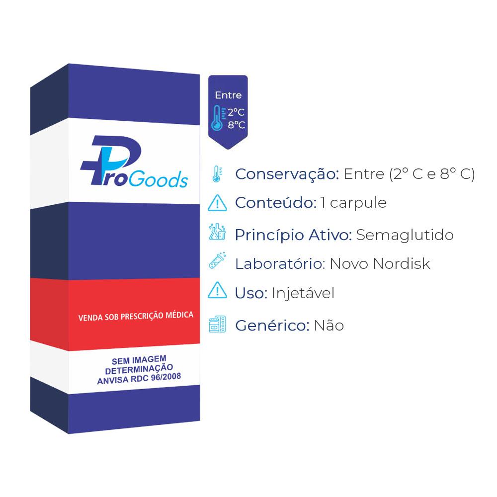 OZEMPIC 1,34ML CX 1 CARPULE COM 1,5ML + 1 SISTEMA APLIC (0,25MG e 0,5MG) + 6 AGULHAS DE SOL INJETÁVEL SUB (NOVO NORDISK)  - ProGoods