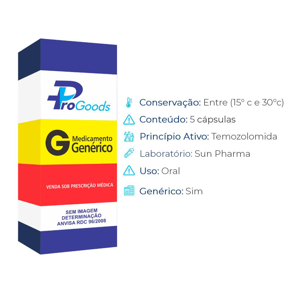 TEMOZOLOMIDA 100 MG CX C/05 CAPS (G) (SUN PHARMA)  - ProGoods