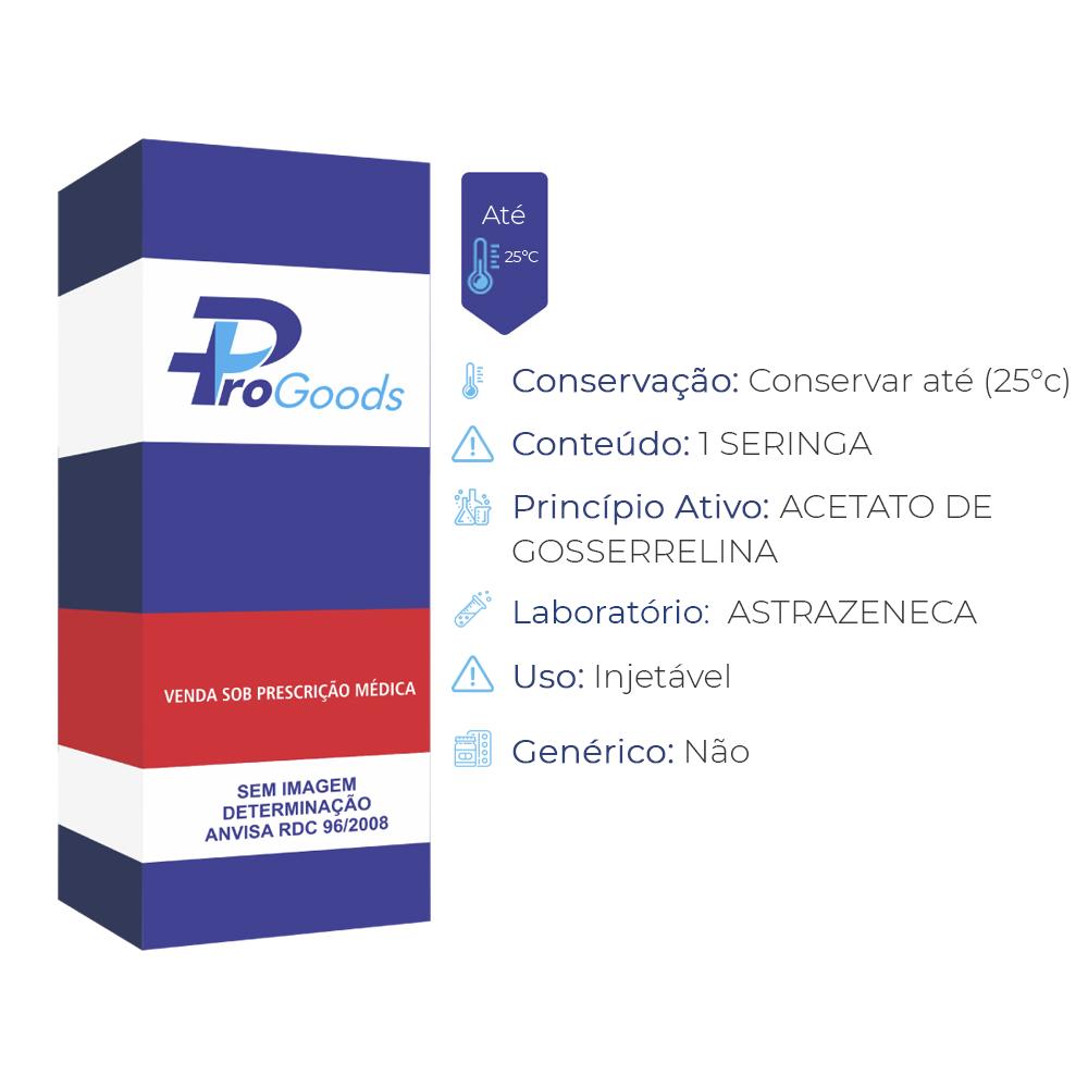 Zoladex LA 10,8mg, caixa com 1 seringa carregada com depot de liberação prolongada de uso subcutâneo (R) (ASTRAZENECA)  - ProGoods