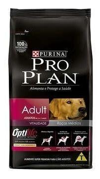 Ração Pro Plan Frango Para Cães Adultos Raças Médias- 15kg