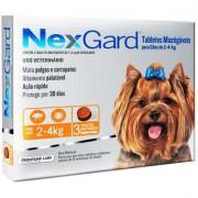 NexGard 11,3 mg - Cães de 2 a 4 Kg cx com 3 tabletes