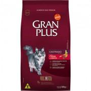 Ração Affinity PetCare GranPlus Carne e Arroz para Gatos Castrados- 10 pacotes de 1,01 Kg