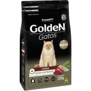 Ração Seca PremieR Pet Golden Gatos Adultos Castrados Carne- 3KG