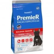 Ração Seca Premier Pet Raças Específicas Bulldog Francês para Cães Filhotes- 2,5KG