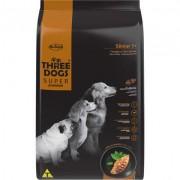 Ração Seca Three Dogs Super Premium Frango e Chá Verde para Cães Sênior 7+ 15kg