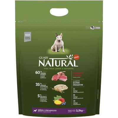 Ração Affinity Guabi Natural Cordeiro e Aveia para Cães Adultos Raças Média 2,5KG