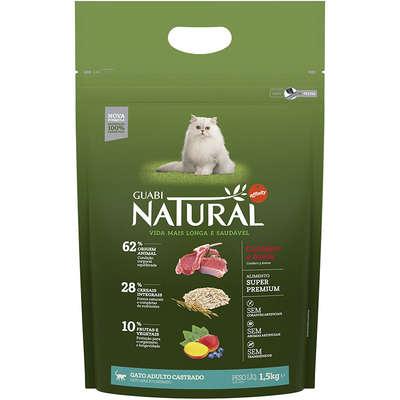 Ração Affinity Guabi Natural Cordeiro e Aveia para Gatos Adultos Castrados 1,5KG