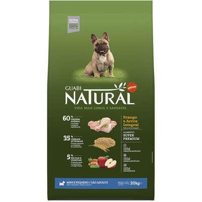 Ração Affinity Guabi Natural Frango e Arroz Integral para Cães Adultos Raças Mini e Pequena 10,1KG