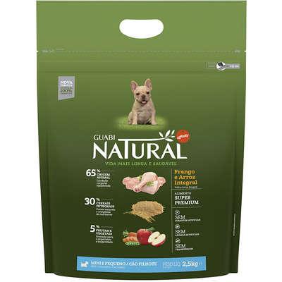 Ração Affinity Guabi Natural Frango e Arroz Integral para Cães Filhotes Raças Mini e Pequena 2,5KG