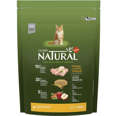 Ração Affinity Guabi Natural Frango e Arroz Integral para Gatos Filhotes 500G