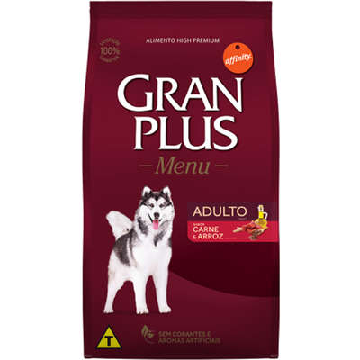 Ração Affinity PetCare GranPlus Menu Carne e Arroz para Cães Adultos 20KG