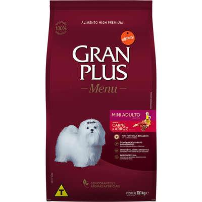 Ração Affinity PetCare GranPlus Menu Carne e Arroz para Cães Adultos Mini 10,1KG