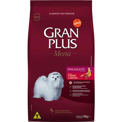 Ração Affinity PetCare GranPlus Menu Carne e Arroz para Cães Adultos Mini 15KG