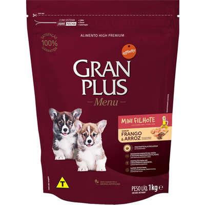 Ração Affinity PetCare GranPlus Menu Raças Pequenas Frango e Arroz para Cães Filhotes 1KG