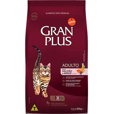Ração Affinity PetCare GranPlus Salmão e Arroz para Gatos Adultos- 10 pacotes de 1,01 Kg