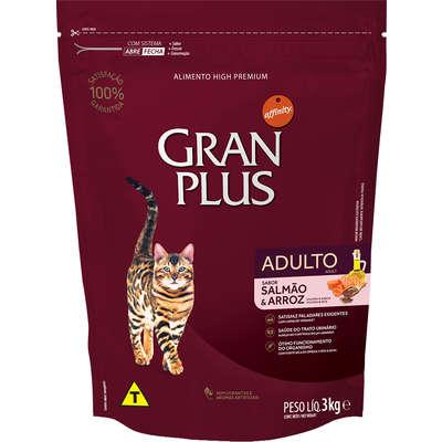 Ração Affinity PetCare GranPlus Salmão e Arroz para Gatos Adultos 3KG