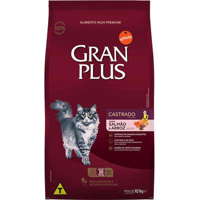 Ração Affinity PetCare GranPlus Salmão e Arroz para Gatos Castrados Adultos- 10 pacotes de 1,01 Kg