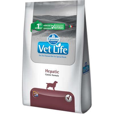 Ração Farmina Vet Life Natural Hepatic para Cães com Insuficiência Hepática- 2KG
