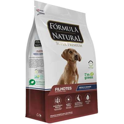 Ração Fórmula Natural Super Premium para Cães Filhotes Raças Médias e Grandes 15KG