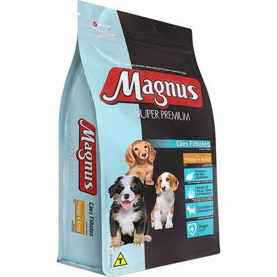 Ração Magnus Super Premium Frango e Arroz Cães Filhotes 10,1KG