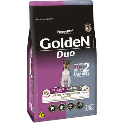 Ração Premier Golden DUO Cães Adultos Mini Bits Salmão com Ervas e Cordeiro e Arroz- 3kg