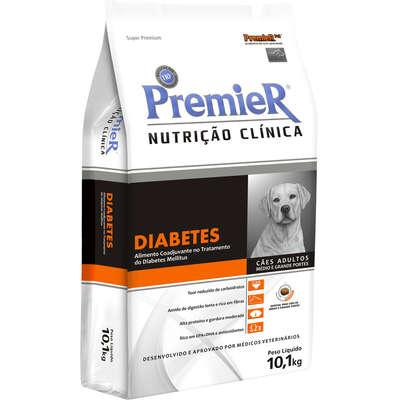 Ração Premier Pet Nutrição Clínica Diabetes para Cães Adultos Médio e Grande Portes- 10,1KG