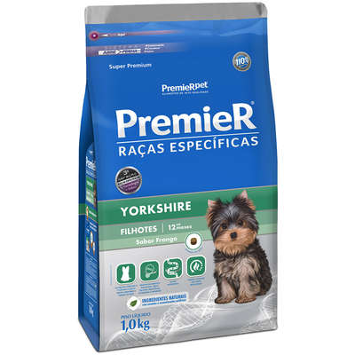 Ração Premier Pet Raças Específicas Yorkshire Filhotes- 1KG