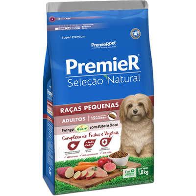 Ração Premier Pet Seleção Natural Cães Adultos Raças Pequenas Frango Korin com Batata Doce - 1 KG