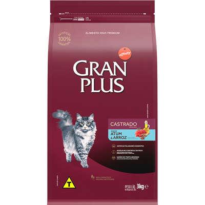 Ração Seca Affinity GranPlus Atum & Arroz para Gatos Castrados 3KG