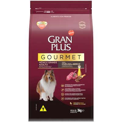 Ração Seca Affinity GranPlus Gourmet Ovelha & Arroz para Cães Adultos Raças Médias e Grandes 3KG