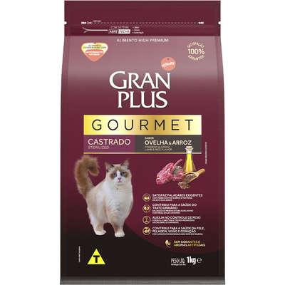 Ração Seca Affinity GranPlus Gourmet Ovelha & Arroz para Gatos Castrados 1KG