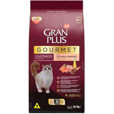 Ração Seca Affinity GranPlus Gourmet Salmão & Frango para Gatos Castrados- 10 pacotes de 1,01 Kg