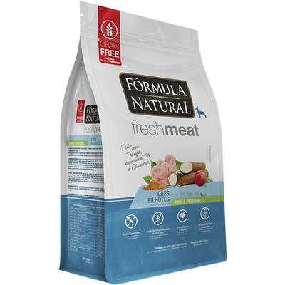 Ração Seca Fórmula Natural Fresh Meat Cães Filhotes Raças Mini e Pequena 7KG