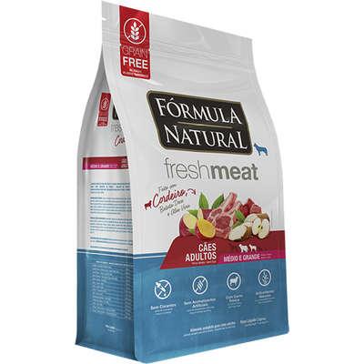 Ração Seca Fórmula Natural Fresh Meat Cordeiro para Cães Adultos Raças Médias e Grandes 2,5KG