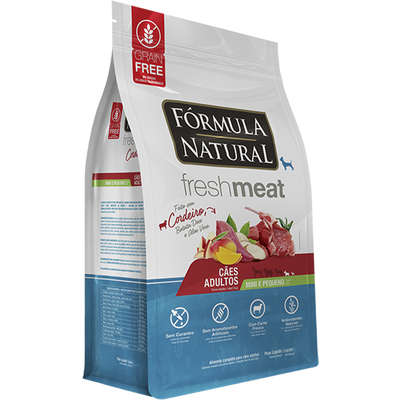 Ração Seca Fórmula Natural Fresh Meat Cordeiro para Cães Adultos Raças Mini e Pequena 1KG