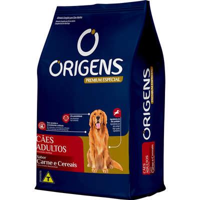 Ração Seca Origens Premium Especial Carne e Cereais Cães Adultos 15KG