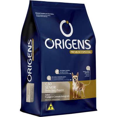 Ração Seca Origens Premium Especial Frango e Cereais Integrais para Cães Sênior Raças Mini e Pequena 10,1KG