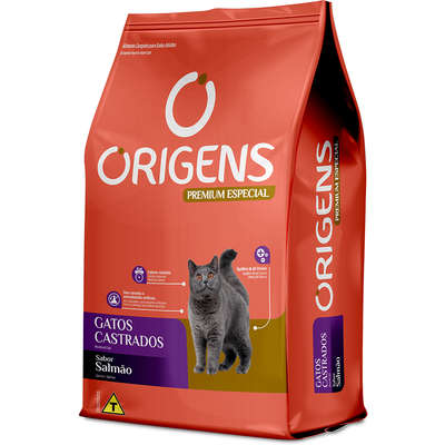Ração Seca Origens Premium Especial Salmão Gatos Castrados 10,1KG