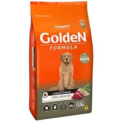 Ração Seca PremieR Pet Golden Formula Carne e Arroz para Cães Adultos- 15kg