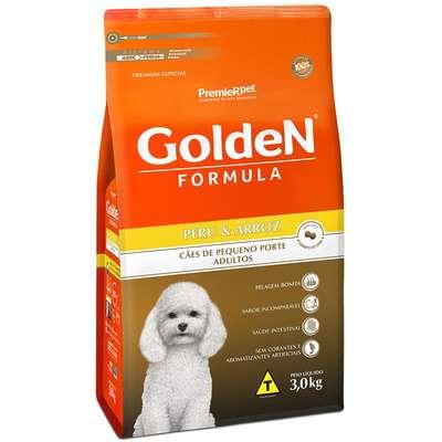 Ração Seca PremieR Pet Golden Formula Peru & Arroz para Cães Adultos de Pequeno Porte- 3KG