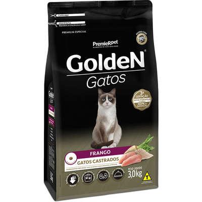 Ração Seca PremieR Pet Golden Gatos Adultos Castrados Frango- 3KG